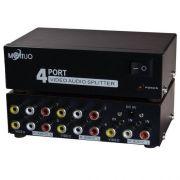 Distribuidor Áudio E Vídeo 1 X 4 Rca