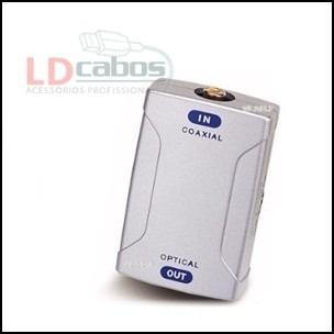 Conversor De Áudio Coaxial Digital Para Coaxial Óptico  - LD Cabos Soluções Áudio e Vídeo
