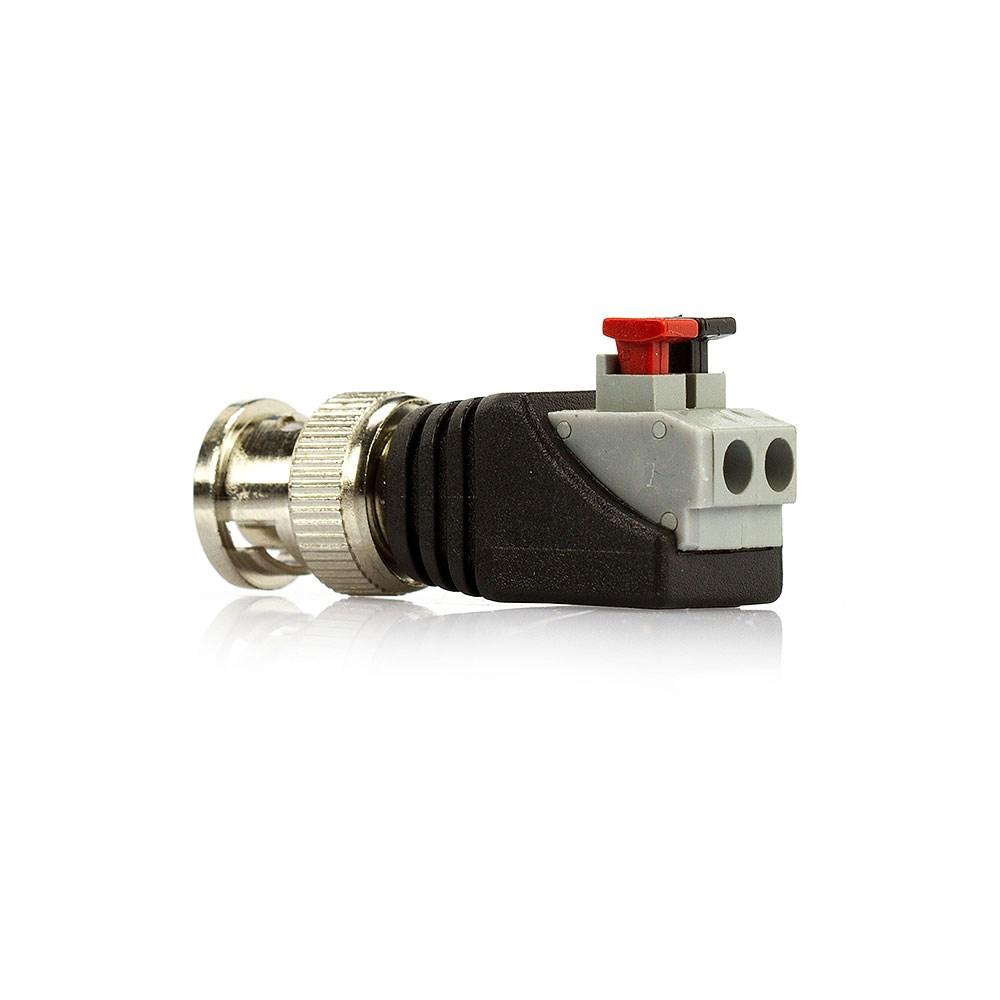 Plug BNC Macho Borne Pressão  - LD Cabos Soluções Áudio e Vídeo