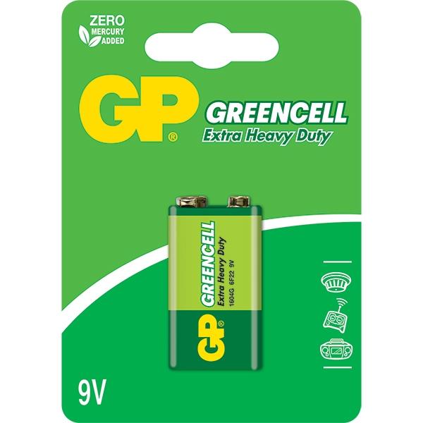 Bateria 9V Greencell GP1604S 6F22  - LD Cabos Soluções Áudio e Vídeo
