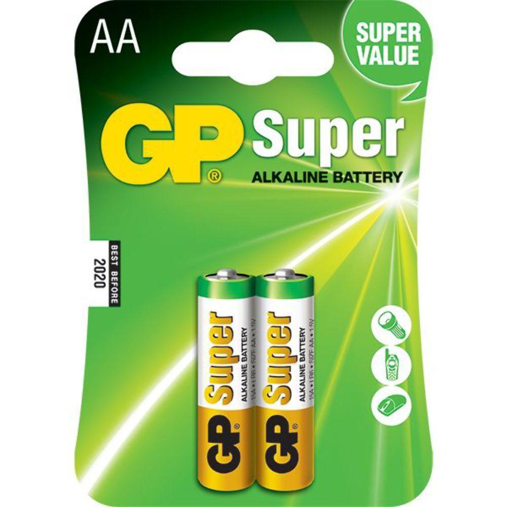 Pilha Super Alcalina AA 1,5V  Embalagem C / 2 Peça  - LD Cabos Soluções Áudio e Vídeo