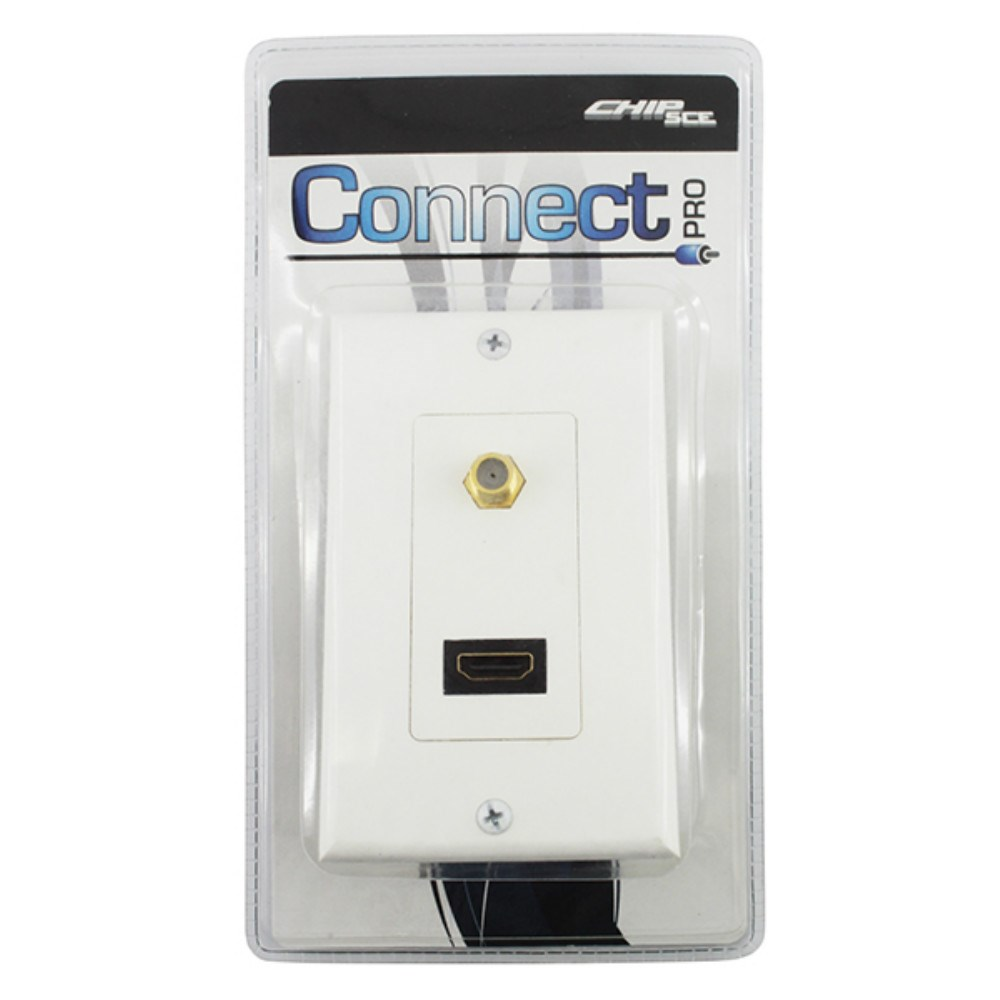 Espelho HDMI + F Coaxial  P / Parede  - LD Cabos Soluções Áudio e Vídeo