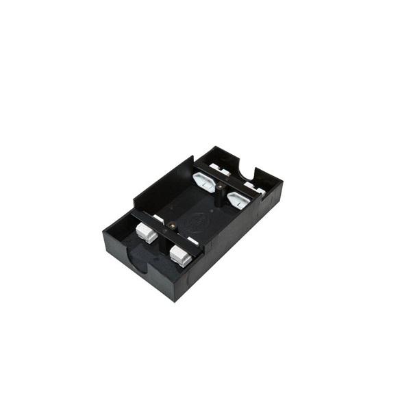 Caixa De Tomada Para Piso Elevado 2 Pontos Elétricos 2 Dados Preto SPE- 800  - LD Cabos Soluções Áudio e Vídeo