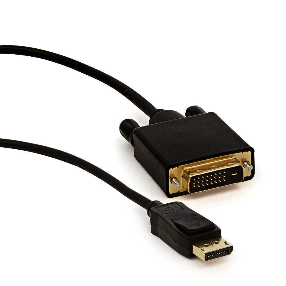 Cabo DisplayPort Para DVI - 1.8 Metros   - LD Cabos Soluções Áudio e Vídeo