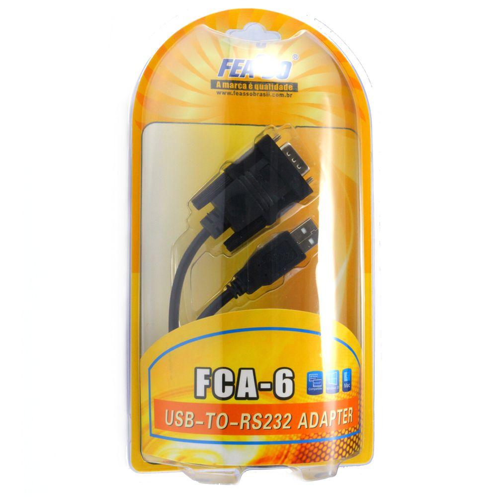 Cabo Conversor USB Para Serial - Feasso  - LD Cabos Soluções Áudio e Vídeo
