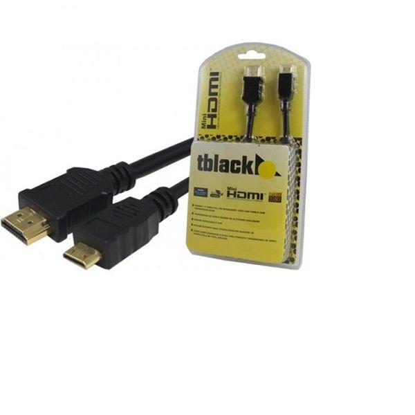 Cabo Mini HDMI Para HDMI 2 - Metros  - LD Cabos Soluções Áudio e Vídeo