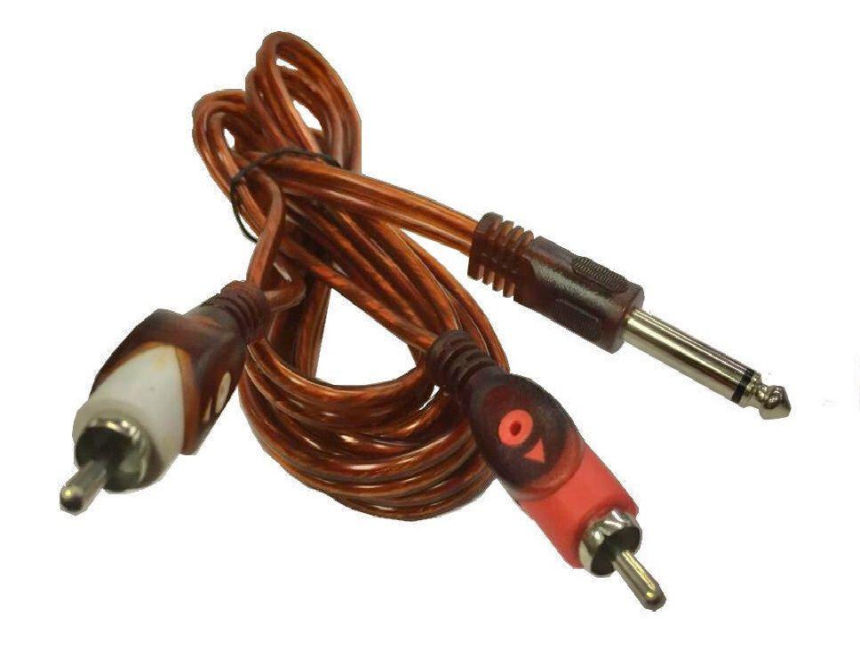 Cabo P10 Mono Para 2 RCA Mono LD Cabos - 1.8 Metros  - LD Cabos Soluções Áudio e Vídeo