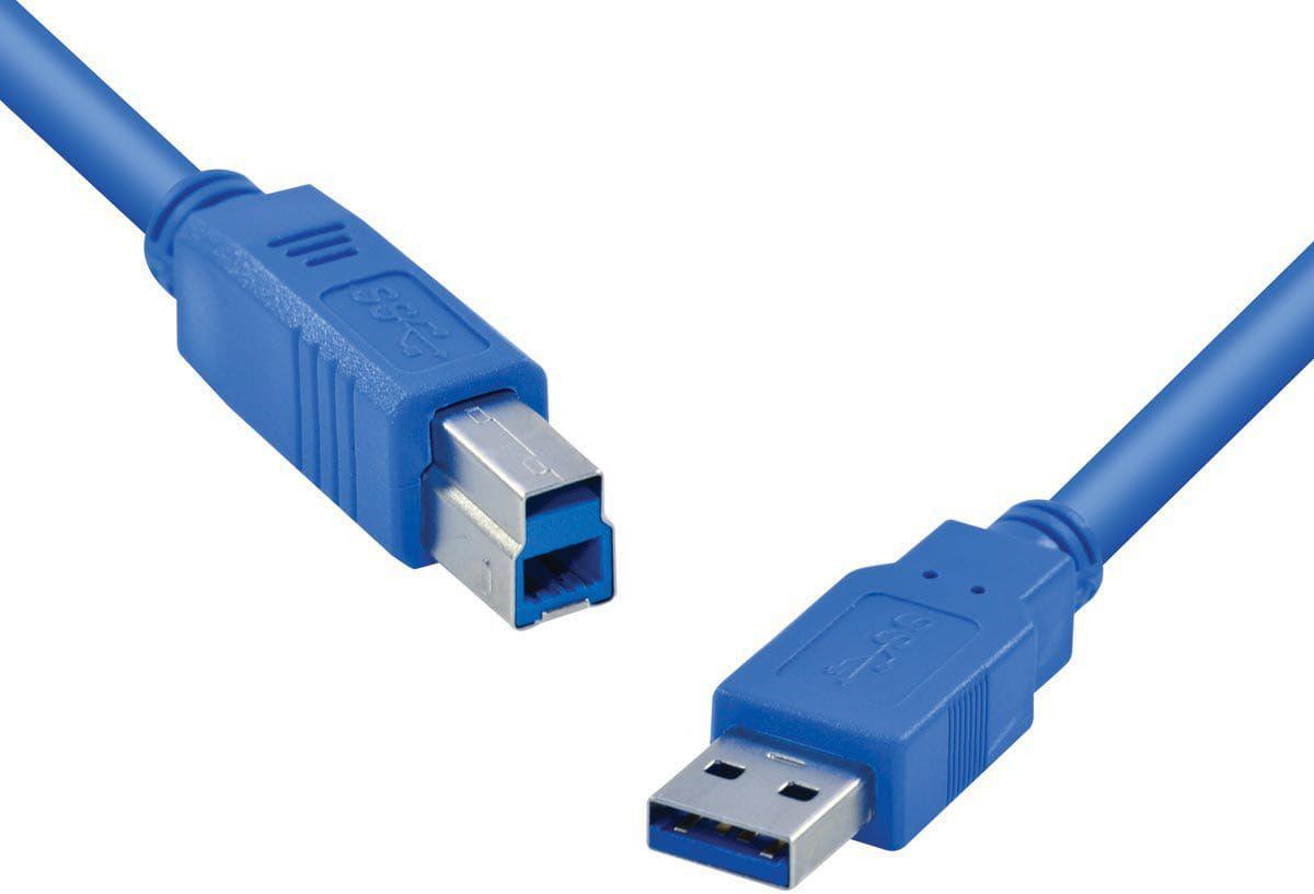 Cabo USB 3.0 Super Speed - 3 Metros  - LD Cabos Soluções Áudio e Vídeo