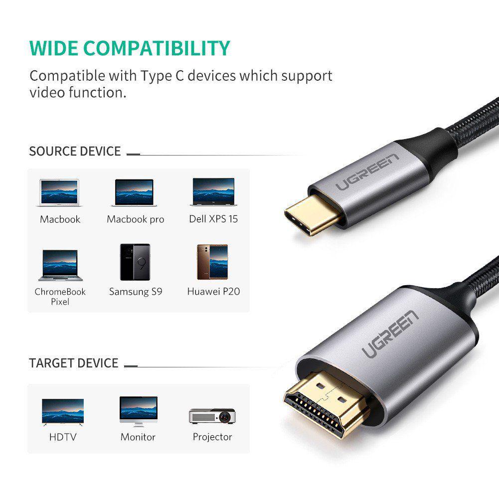 Cabo USB Tipo C 3.1 Thunderbolt 4K 1080P Para HDMI - 3 Metros  - LD Cabos Soluções Áudio e Vídeo
