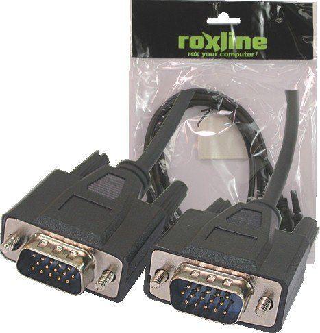 Cabo VGA Flexível Roxiline 5 - Metros  - LD Cabos Soluções Áudio e Vídeo