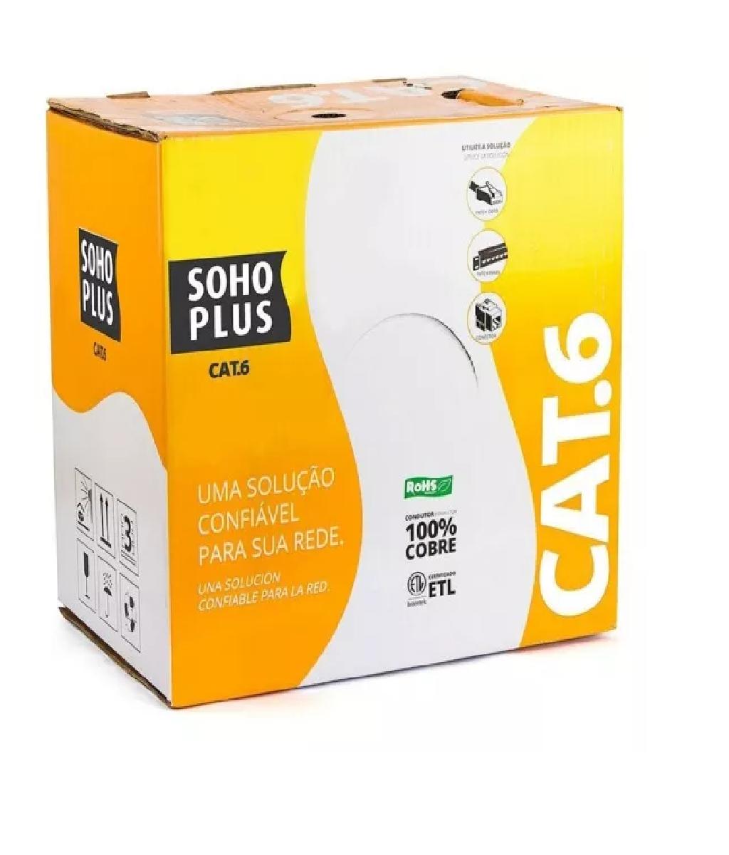 Caixa Cabo De Rede Cat.6 Shoro Plus Azul Furukawa 305 - Metros  - LD Cabos Soluções Áudio e Vídeo