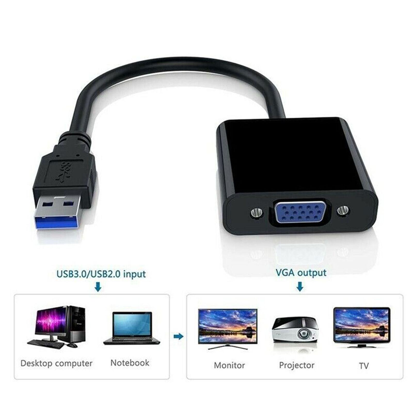 Conversor Adaptador USB 3.0 Para VGA  - LD Cabos Soluções Áudio e Vídeo
