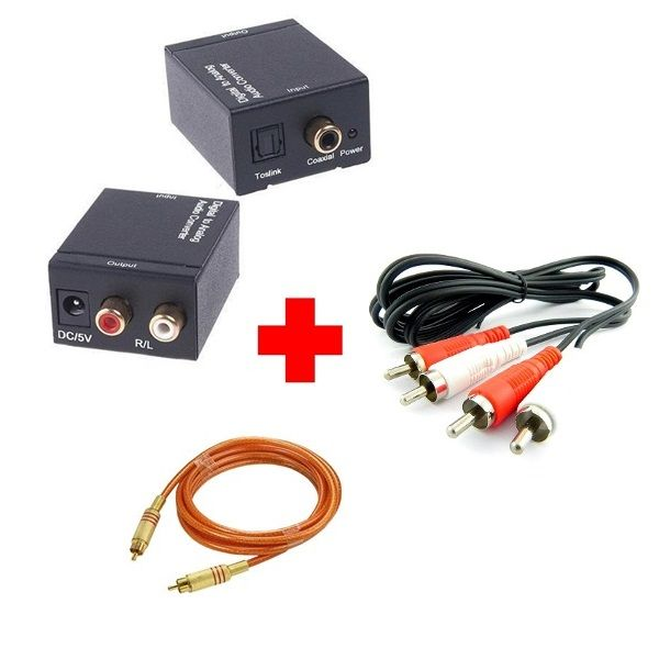 Conversor De Áudio Digital Para Rca Analógico + Cabo Coaxial Digital e RCA - Ld Cabos  - LD Cabos Soluções Áudio e Vídeo