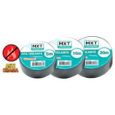 Fita Isolante Antichama PVC 0.15MM x 19MM - 20 Metros  - LD Cabos Soluções Áudio e Vídeo