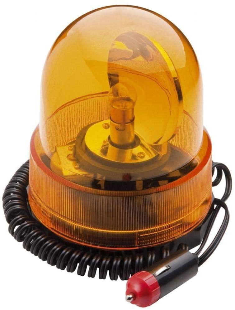 Indicador Giroflex Luminoso Amarelo Base Magnética 12V  - LD Cabos Soluções Áudio e Vídeo