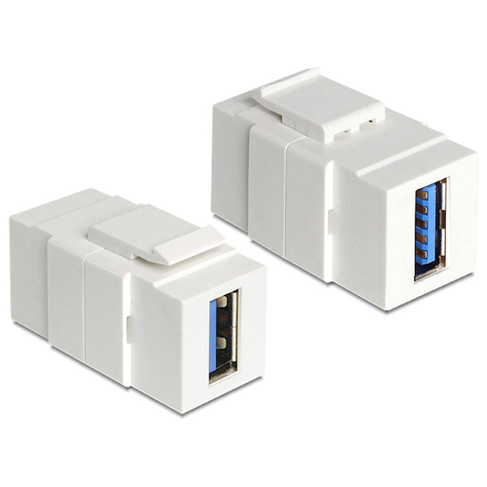Keystone USB 3.0 Fêmea Para Fêmea - Painel  - LD Cabos Soluções Áudio e Vídeo