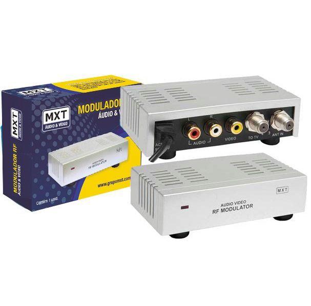Modulador RF Bivolt Mini Áudio e Vídeo Para RF - MXT  - LD Cabos Soluções Áudio e Vídeo