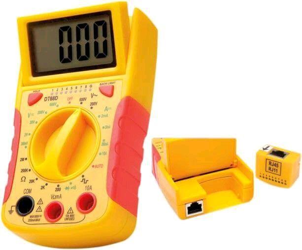Multímetro Digital Com Testador Rede  DT-68DB  - LD Cabos Soluções Áudio e Vídeo