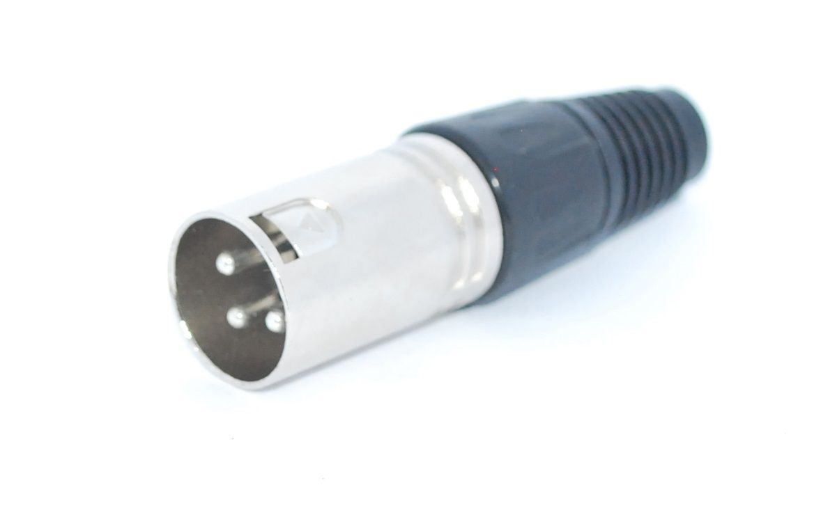 Plug Cannon Macho Metal  - LD Cabos Soluções Áudio e Vídeo