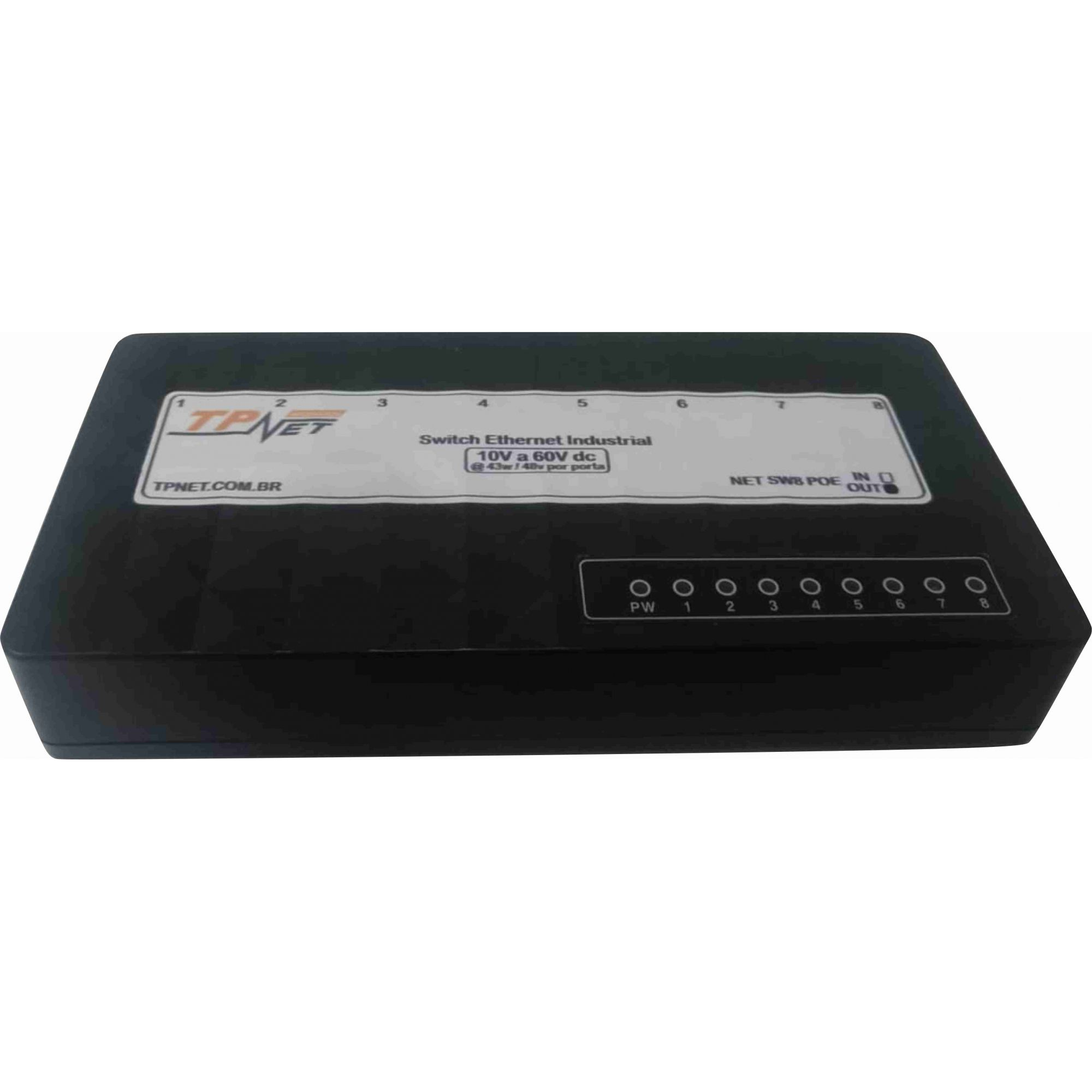 Switch POE 8 Portas OUT