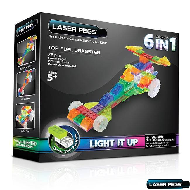 Dragster 6 em1 ZippyDo Laser Pegs