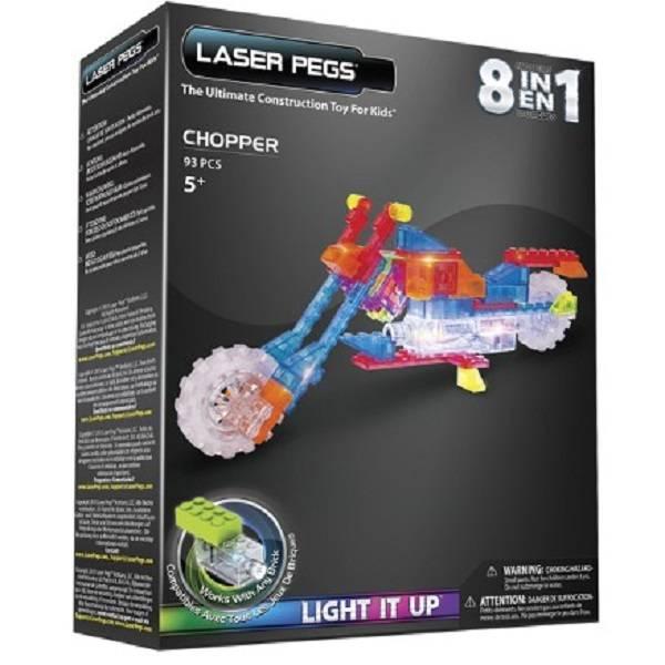 Motocicleta 8 em 1ZippyDo Laser Pegs