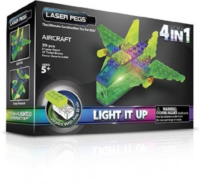 Aeronaves 4 em 1 Laser Pegs