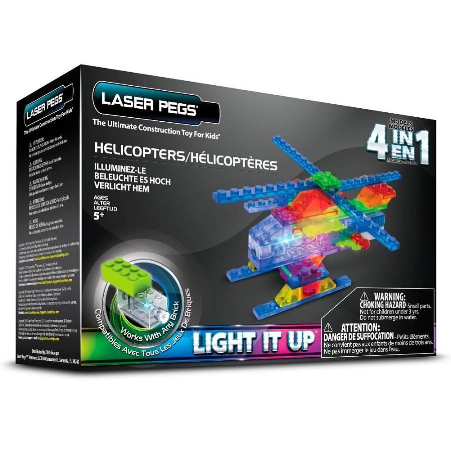 Helicópteros 4 em 1 Laser Pegs