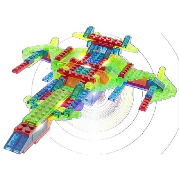 Laser Pegs Cruzador Intergalático - 12 em 1