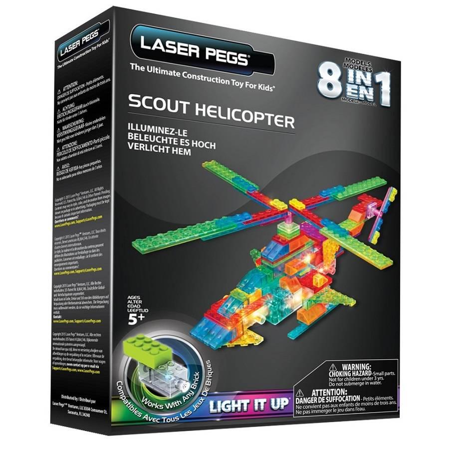 Helicóptero Patrulheiro 8 em 1 Laser Pegs
