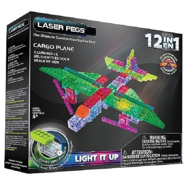 Avião de Carga 12 em 1 Laser Pegs