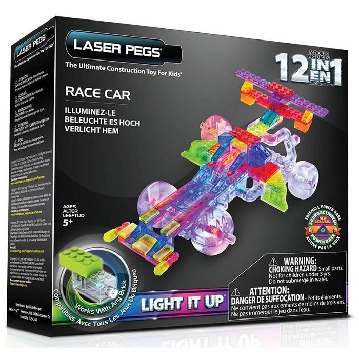 Carro de Corrida 12 em 1 Laser Pegs