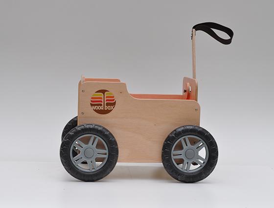 WoodBox Camara Caixa de Madeira com Rodas
