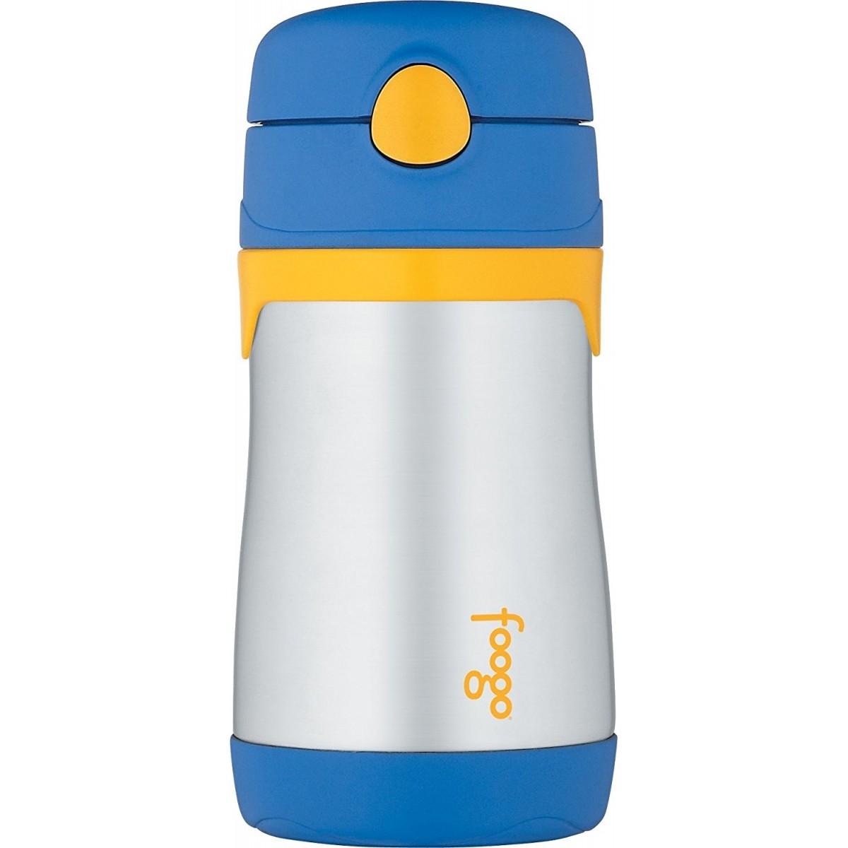 Garrafinha Térmica Foogo 290 ml Azul e Amarelo Thermos