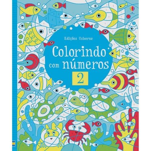 Livro Colorindo com números vol.2 Usborne