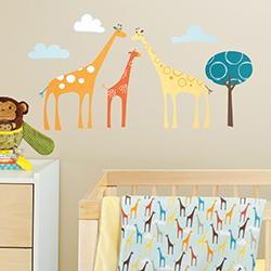 Adesivo de Parede Decorativo Safari de Girafas Skip Hop