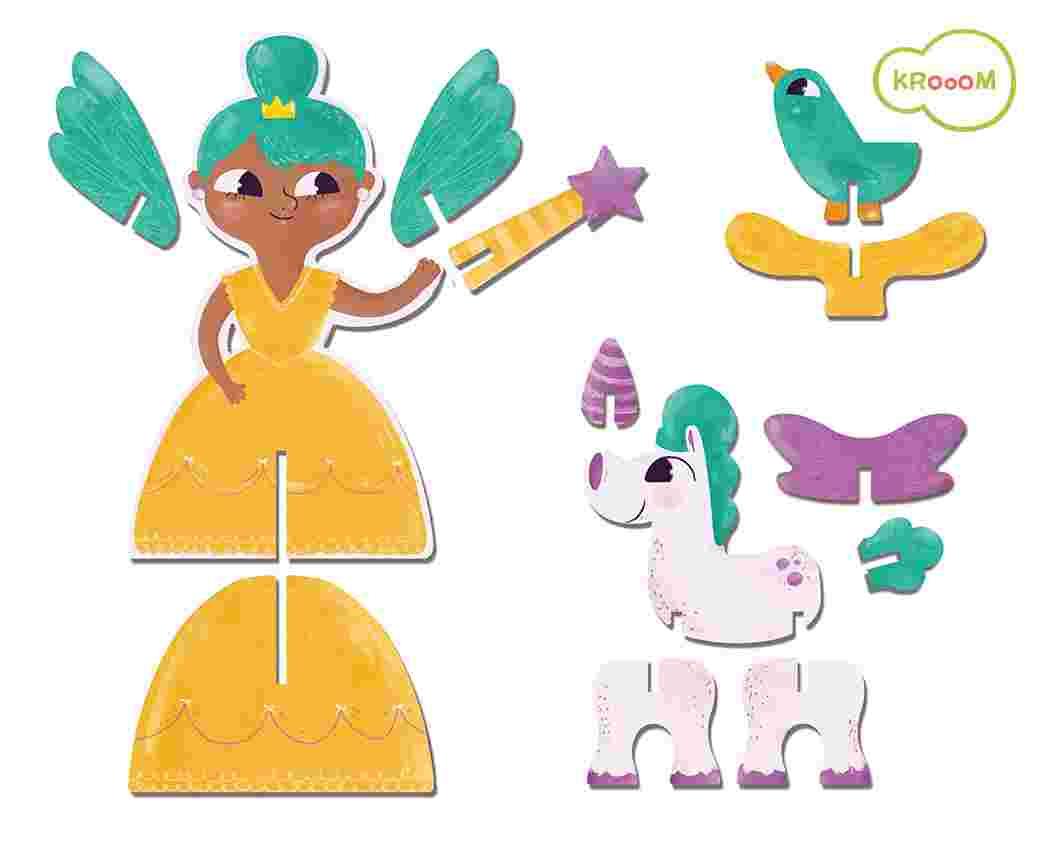 Personagens 3D Princesas Krooom