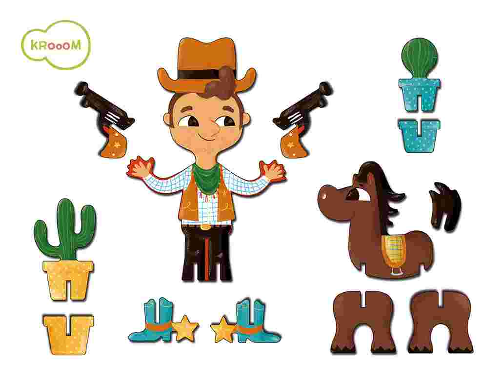 Personagens 3D Cowboy - Krooom