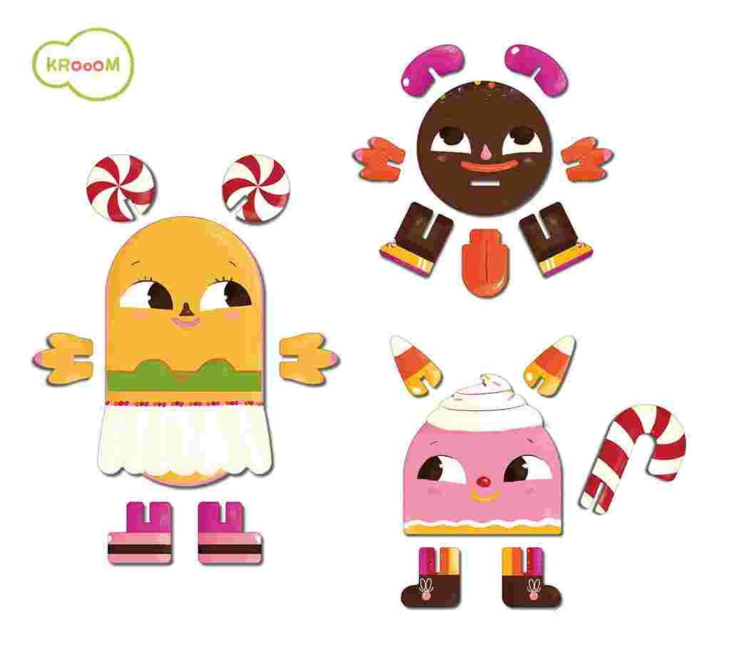 Personagens 3D Docinhos - Krooom