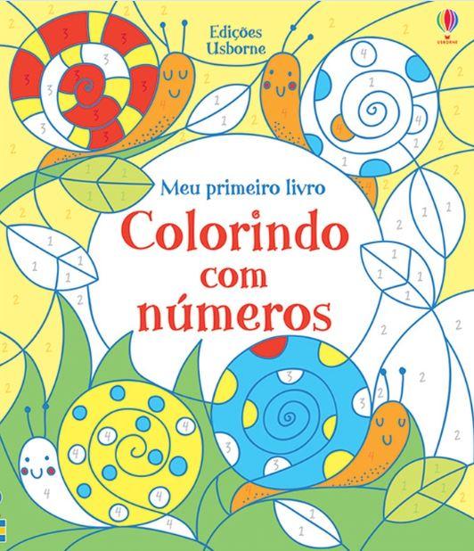 Livro Colorindo com números Usborne