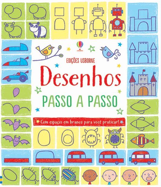 Livro Desenhos Passo a Passo - Usborne
