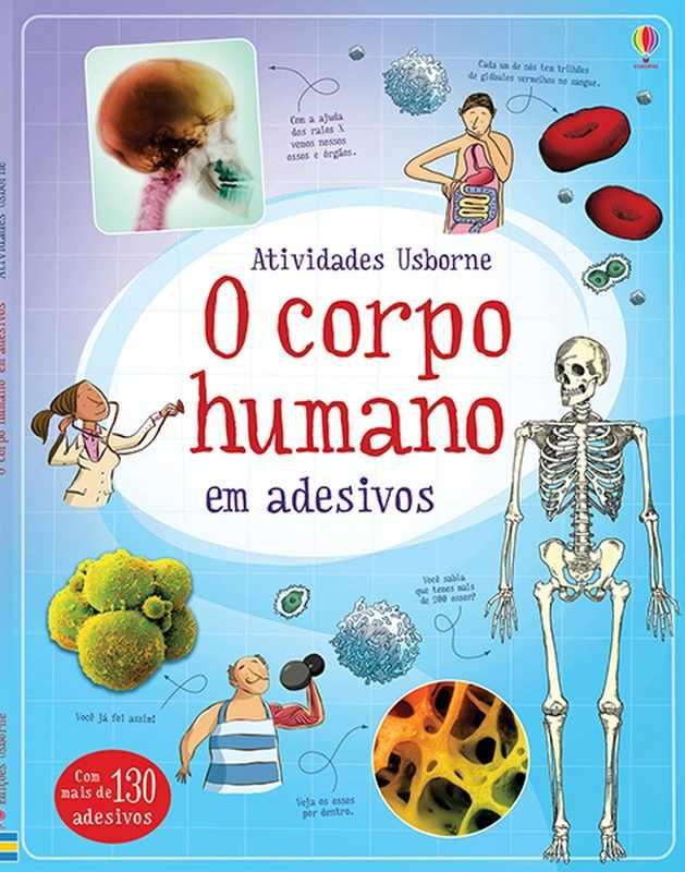 Livro Corpo Humano em Adesivos - Usborne