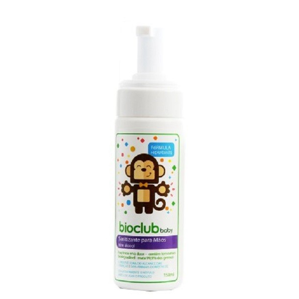 Sanitizante para mãos sem álcool BioClub