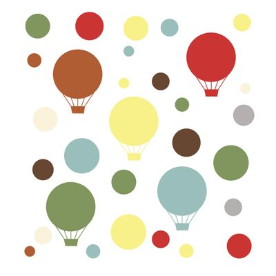 Adesivo de Parede Decorativo Balões Coloridos Skip Hop