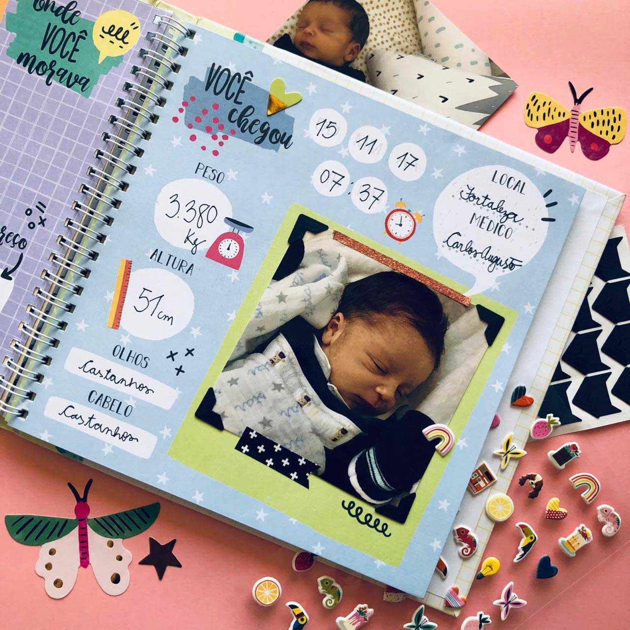 Álbum do Bebê Amarelo Colorê