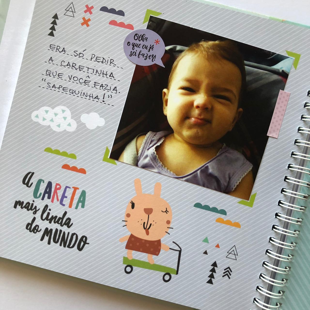 Álbum do Bebê Bichinhos Cinza Colorê