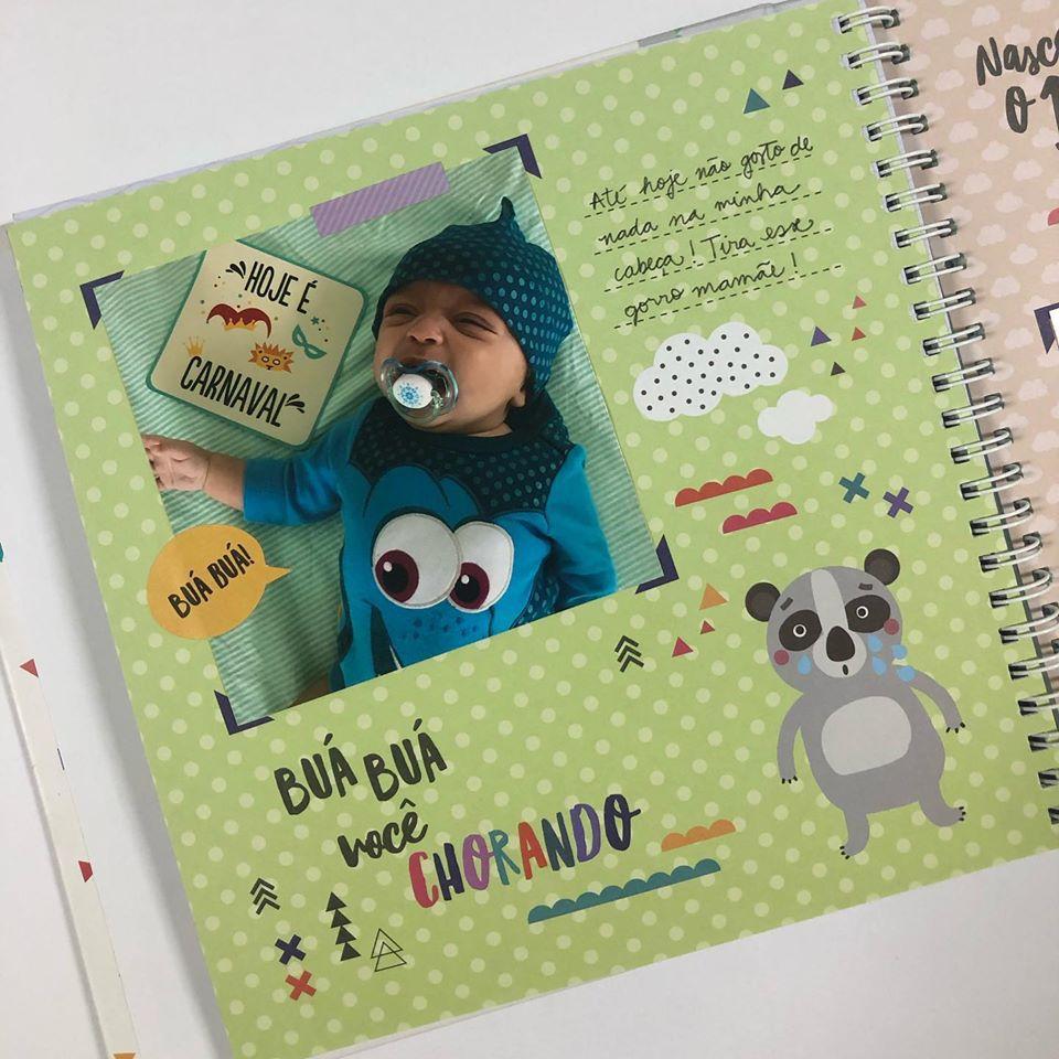 Álbum do Bebê Bichinhos Verde Colorê