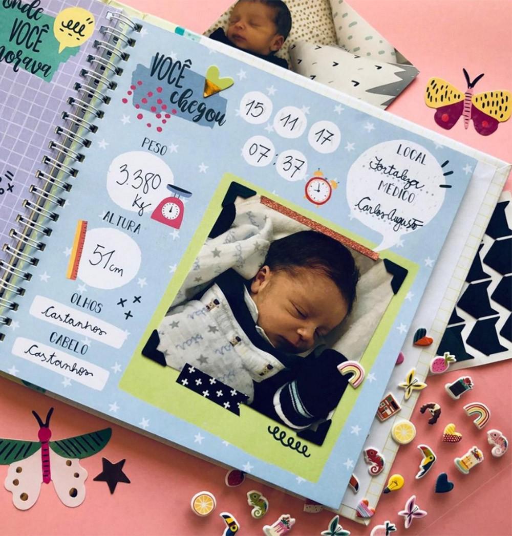 Álbum do Bebe Bolinhas Colorê