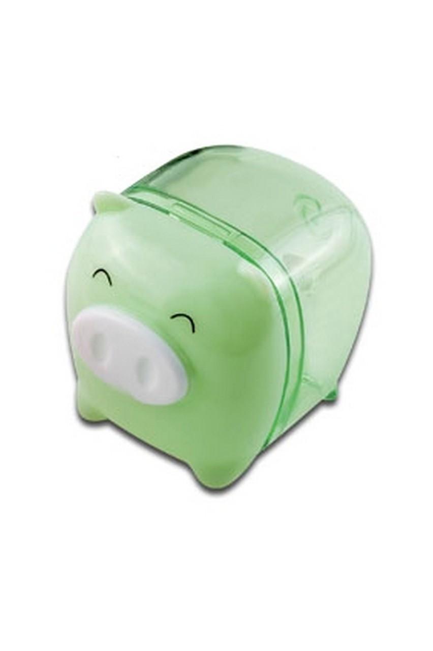 ApontadorPorquinho Verde Tris