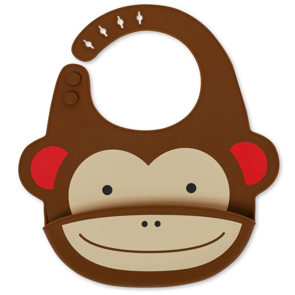Babador de Silicone Zoo Macaco Skip Hop
